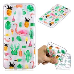 Cactus Flamingos Super Clear Soft TPU Back Cover for LG K8 2017 M200N EU Version (5.0 inch)