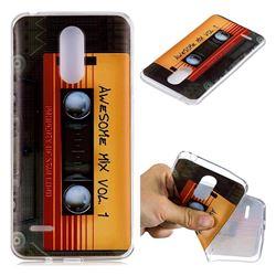 Retro Cassette Tape Super Clear Soft TPU Back Cover for LG K8 2017 M200N EU Version (5.0 inch)