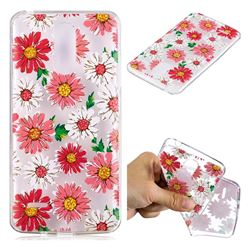 Chrysant Flower Super Clear Soft TPU Back Cover for LG K8 2017 M200N EU Version (5.0 inch)