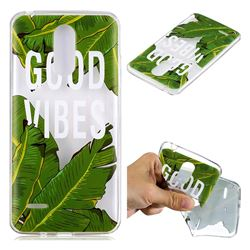 Good Vibes Banana Leaf Super Clear Soft TPU Back Cover for LG K8 2017 M200N EU Version (5.0 inch)