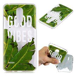 Good Vibes Banana Leaf Super Clear Soft TPU Back Cover for LG K8 2017 M200N EU Version (5.0 inch)