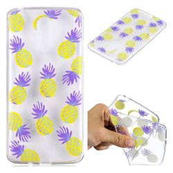 Carton Pineapple Super Clear Soft TPU Back Cover for LG K8 2017 M200N EU Version (5.0 inch)
