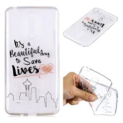 Line Castle Super Clear Soft TPU Back Cover for LG K8 2017 M200N EU Version (5.0 inch)