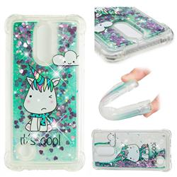 Tiny Unicorn Dynamic Liquid Glitter Sand Quicksand Star TPU Case for LG K8 2017 M200N EU Version (5.0 inch)