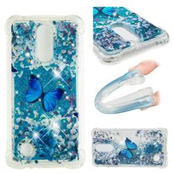 Flower Butterfly Dynamic Liquid Glitter Sand Quicksand Star TPU Case for LG K8 2017 M200N EU Version (5.0 inch)