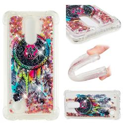 Seal Wind Chimes Dynamic Liquid Glitter Sand Quicksand Star TPU Case for LG K8 2017 M200N EU Version (5.0 inch)