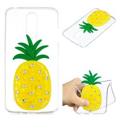 Yellow Pineapple Liquid Quicksand Soft 3D Cartoon Case for LG K8 2017 M200N EU Version (5.0 inch)
