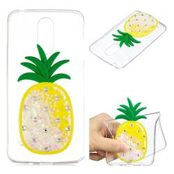 White Pineapple Liquid Quicksand Soft 3D Cartoon Case for LG K8 2017 M200N EU Version (5.0 inch)