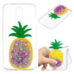 Purple Pineapple Liquid Quicksand Soft 3D Cartoon Case for LG K8 2017 M200N EU Version (5.0 inch)
