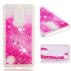 Dynamic Liquid Glitter Quicksand Sequins TPU Phone Case for LG K8 2017 M200N EU Version (5.0 inch) - Rose