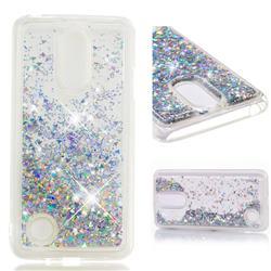 Dynamic Liquid Glitter Quicksand Sequins TPU Phone Case for LG K8 2017 M200N EU Version (5.0 inch) - Silver