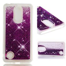 Dynamic Liquid Glitter Quicksand Sequins TPU Phone Case for LG K8 2017 M200N EU Version (5.0 inch) - Purple