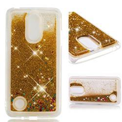 Dynamic Liquid Glitter Quicksand Sequins TPU Phone Case for LG K8 2017 M200N EU Version (5.0 inch) - Golden