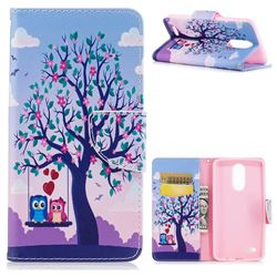 Tree and Owls Leather Wallet Case for LG K8 2017 M200N EU Version (5.0 inch)