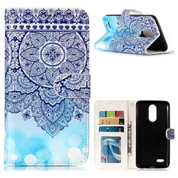 Totem Flower 3D Relief Oil PU Leather Wallet Case for LG K8 2017 M200N EU Version (5.0 inch)