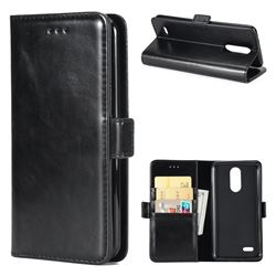 Luxury Crazy Horse PU Leather Wallet Case for LG K8 2017 M200N EU Version (5.0 inch) - Black