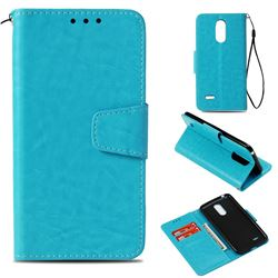 Retro Phantom Smooth PU Leather Wallet Holster Case for LG K8 2017 M200N EU Version (5.0 inch) - Sky Blue