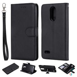Retro Greek Detachable Magnetic PU Leather Wallet Phone Case for LG K8 2017 M200N EU Version (5.0 inch) - Black
