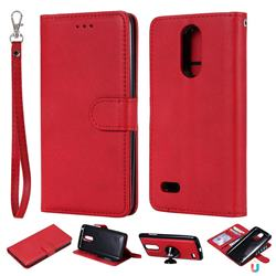 Retro Greek Detachable Magnetic PU Leather Wallet Phone Case for LG K8 2017 M200N EU Version (5.0 inch) - Red