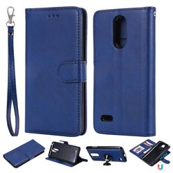 Retro Greek Detachable Magnetic PU Leather Wallet Phone Case for LG K8 2017 M200N EU Version (5.0 inch) - Blue