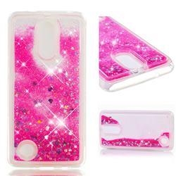 Dynamic Liquid Glitter Quicksand Sequins TPU Phone Case for LG K8 2017 US215 American version LV3 MS210 - Rose