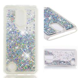 Dynamic Liquid Glitter Quicksand Sequins TPU Phone Case for LG K8 2017 US215 American version LV3 MS210 - Silver