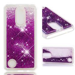Dynamic Liquid Glitter Quicksand Sequins TPU Phone Case for LG K8 2017 US215 American version LV3 MS210 - Purple