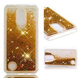 Dynamic Liquid Glitter Quicksand Sequins TPU Phone Case for LG K8 2017 US215 American version LV3 MS210 - Golden