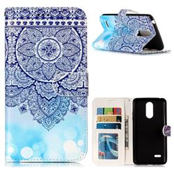 Totem Flower 3D Relief Oil PU Leather Wallet Case for LG K8 2017 US215 American version LV3 MS210
