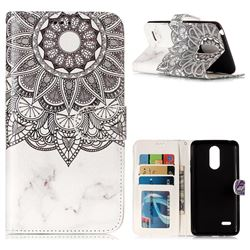 Marble Mandala 3D Relief Oil PU Leather Wallet Case for LG K8 2017 US215 American version LV3 MS210