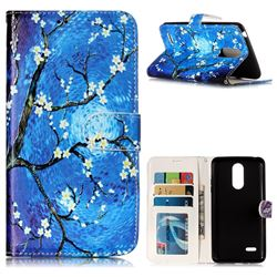 Plum Blossom 3D Relief Oil PU Leather Wallet Case for LG K8 2017 US215 American version LV3 MS210