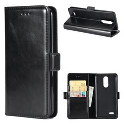 Luxury Crazy Horse PU Leather Wallet Case for LG K8 2017 US215 American version LV3 MS210 - Black