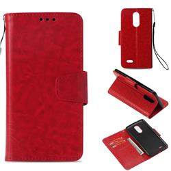 Retro Phantom Smooth PU Leather Wallet Holster Case for LG K8 2017 US215 American version LV3 MS210 - Red