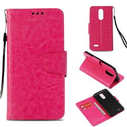 Retro Phantom Smooth PU Leather Wallet Holster Case for LG K8 2017 US215 American version LV3 MS210 - Rose