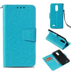 Retro Phantom Smooth PU Leather Wallet Holster Case for LG K8 2017 US215 American version LV3 MS210 - Sky Blue