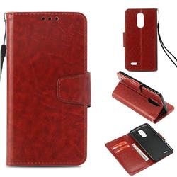 Retro Phantom Smooth PU Leather Wallet Holster Case for LG K8 2017 US215 American version LV3 MS210 - Brown