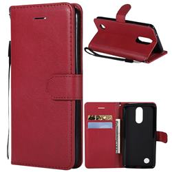 Retro Greek Classic Smooth PU Leather Wallet Phone Case for LG K8 2017 US215 American version LV3 MS210 - Red