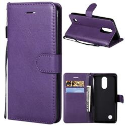 Retro Greek Classic Smooth PU Leather Wallet Phone Case for LG K8 2017 US215 American version LV3 MS210 - Purple