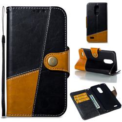 Retro Magnetic Stitching Wallet Flip Cover for LG K8 2017 US215 American version LV3 MS210 - Black