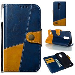 Retro Magnetic Stitching Wallet Flip Cover for LG K8 2017 US215 American version LV3 MS210 - Blue