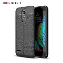 Luxury Auto Focus Litchi Texture Silicone TPU Back Cover for LG K8 (2018) / LG K9 - Black