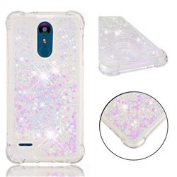 Dynamic Liquid Glitter Sand Quicksand Star TPU Case for LG K8 (2018) / LG K9 - Pink