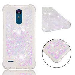 Dynamic Liquid Glitter Sand Quicksand Star TPU Case for LG K8 (2018) - Pink