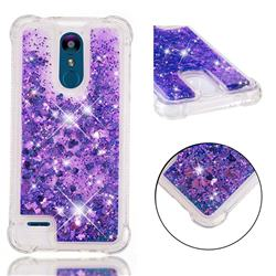 Dynamic Liquid Glitter Sand Quicksand Star TPU Case for LG K8 (2018) / LG K9 - Purple