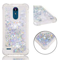 Dynamic Liquid Glitter Sand Quicksand Star TPU Case for LG K8 (2018) / LG K9 - Silver