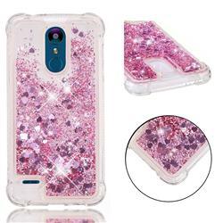 Dynamic Liquid Glitter Sand Quicksand Star TPU Case for LG K8 (2018) - Diamond Rose