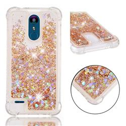 Dynamic Liquid Glitter Sand Quicksand Star TPU Case for LG K8 (2018) / LG K9 - Diamond Gold