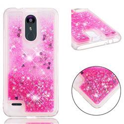 Dynamic Liquid Glitter Quicksand Sequins TPU Phone Case for LG K8 (2018) / LG K9 - Rose