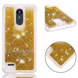 Dynamic Liquid Glitter Quicksand Sequins TPU Phone Case for LG K8 (2018) / LG K9 - Golden
