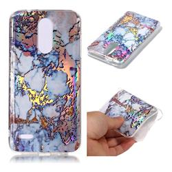 Gold Plating Marble Pattern Bright Color Laser Soft TPU Case for LG K8 (2018)